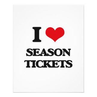Amo bonos de temporada tarjeta publicitaria