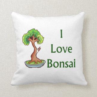 Amo bonsais en graphi verde del árbol del shari cojín decorativo