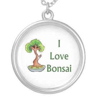Amo bonsais en graphi verde del árbol del shari collar plateado