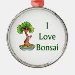 Amo bonsais en graphi verde del árbol del shari de ornamentos de reyes magos