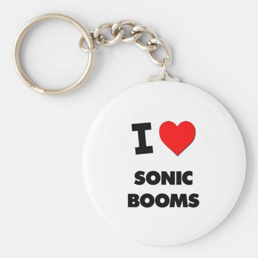Amo boomes sónicos llaveros personalizados