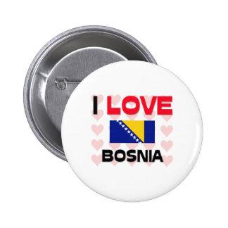 Amo Bosnia Pin Redondo De 2 Pulgadas