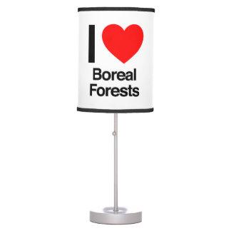 amo bosques boreales lámpara de escritorio