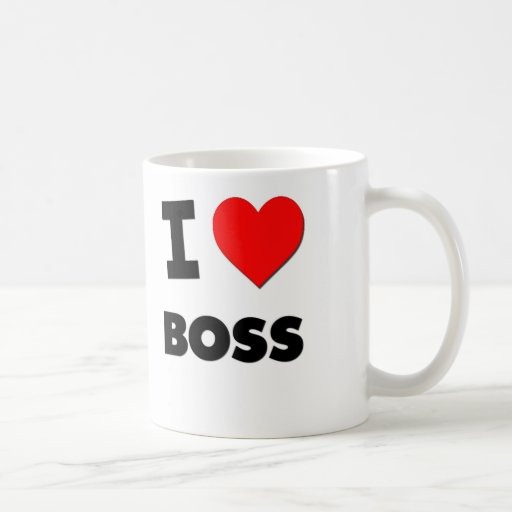 Amo Boss Taza Básica Blanca