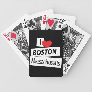 Amo Boston Massachusetts Cartas De Juego