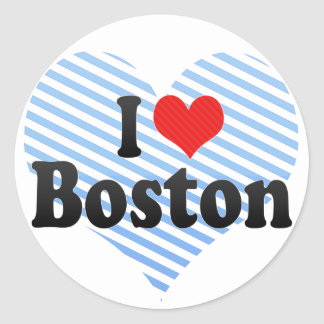 Amo Boston Pegatina Redonda