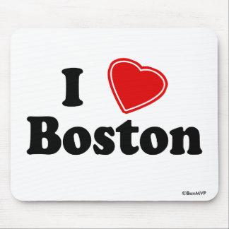 Amo Boston Alfombrillas De Ratón