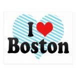 Amo Boston Tarjetas Postales