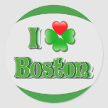 amo Boston - trébol Pegatinas
