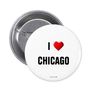 Amo botón del pinback de Chicago