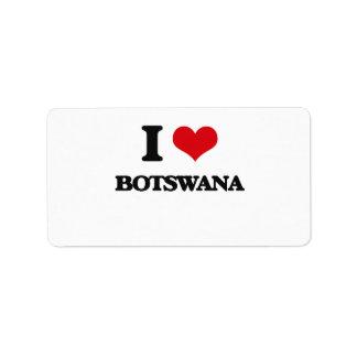 Amo Botswana Etiqueta De Dirección