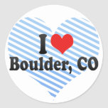 Amo Boulder, CO Etiqueta Redonda