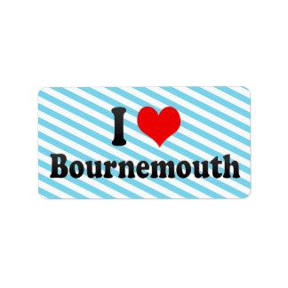 Amo Bournemouth, Reino Unido Etiquetas De Dirección