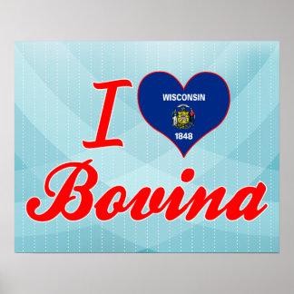 Amo Bovina Wisconsin Posters