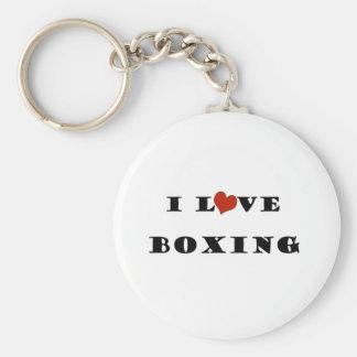 Amo Boxing.png Llavero Redondo Tipo Pin