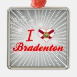 Amo Bradenton, la Florida Ornamento Para Arbol De Navidad