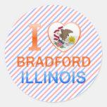 Amo Bradford, IL Pegatinas Redondas