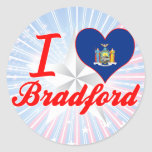 Amo Bradford, Nueva York Etiqueta Redonda