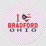 Amo Bradford, Ohio Pegatina Redonda