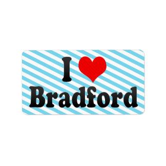 Amo Bradford, Reino Unido Etiquetas De Dirección