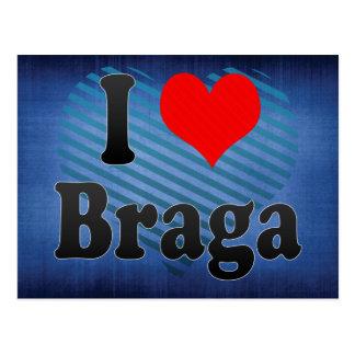 Amo Braga, Portugal Tarjeta Postal
