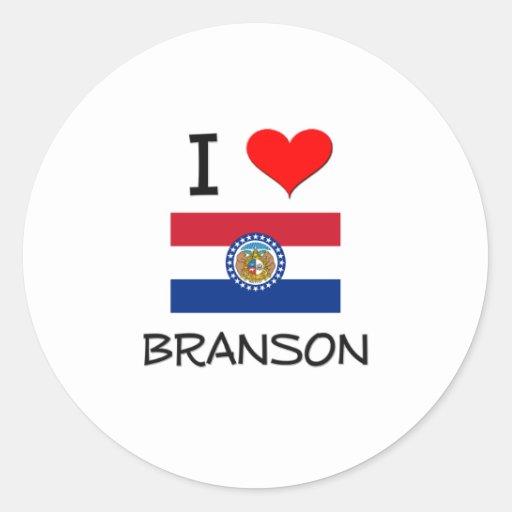 Amo Branson Missouri Pegatinas Redondas