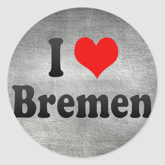 Amo Bremen, Alemania. Ich Liebe Bremen, Alemania Etiqueta