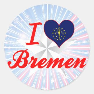 Amo Bremen, Indiana Pegatinas Redondas