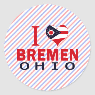 Amo Bremen, Ohio Pegatina Redonda