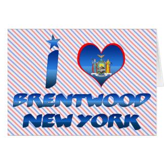 Amo Brentwood, Nueva York Tarjetón