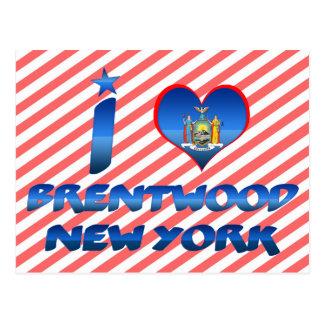 Amo Brentwood, Nueva York Tarjeta Postal