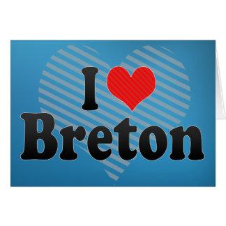 Amo bretón tarjeta de felicitación