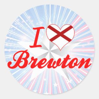 Amo Brewton, Alabama Pegatina Redonda