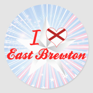 Amo Brewton del este, Alabama Pegatina Redonda