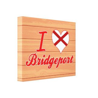 Amo Bridgeport, Alabama Impresión En Lona Estirada