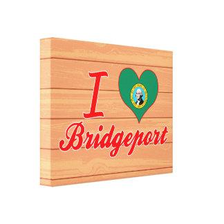 Amo Bridgeport, Washington Impresiones En Lona