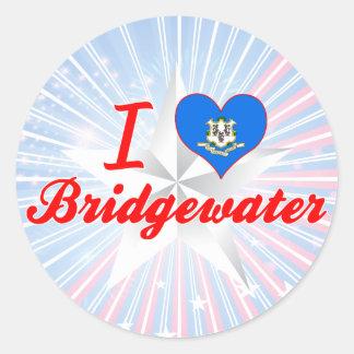 Amo Bridgewater, Connecticut Etiquetas Redondas