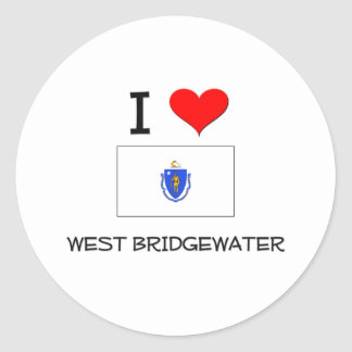 Amo Bridgewater del oeste Massachusetts Pegatinas Redondas