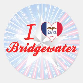 Amo Bridgewater, Iowa Pegatinas Redondas