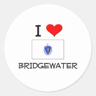 Amo Bridgewater Massachusetts Etiquetas Redondas
