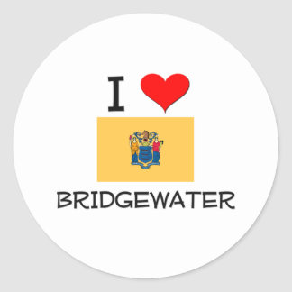 Amo Bridgewater New Jersey Pegatinas Redondas