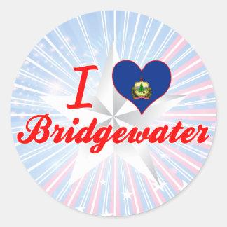 Amo Bridgewater, Vermont Pegatinas Redondas