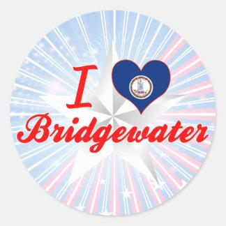 Amo Bridgewater, Virginia Etiquetas Redondas