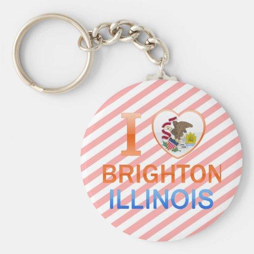 Amo Brighton, IL Llavero Redondo Tipo Pin