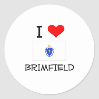 Amo Brimfield Massachusetts Pegatina Redonda