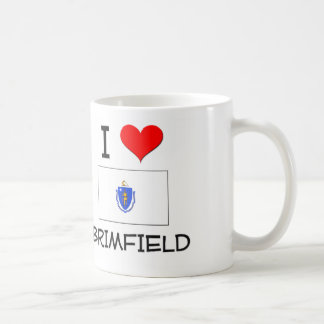 Amo Brimfield Massachusetts Taza Básica Blanca