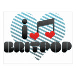 Amo Britpop Tarjeta Postal