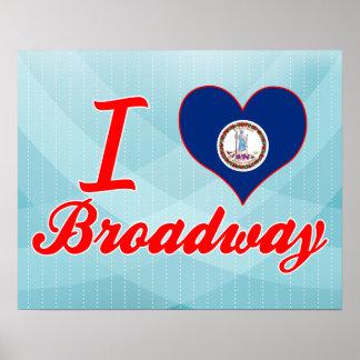 Amo Broadway, Virginia Poster