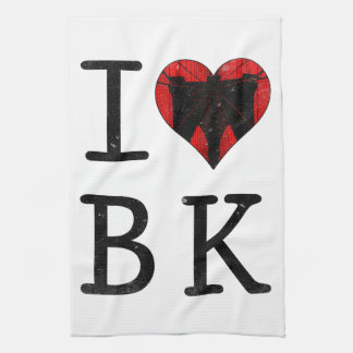 Amo Brooklyn, BK Nueva York Toalla De Mano