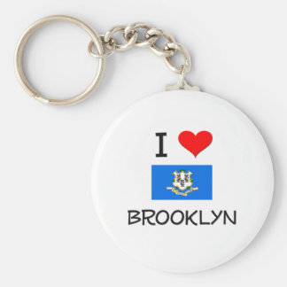 Amo Brooklyn Connecticut Llaveros Personalizados